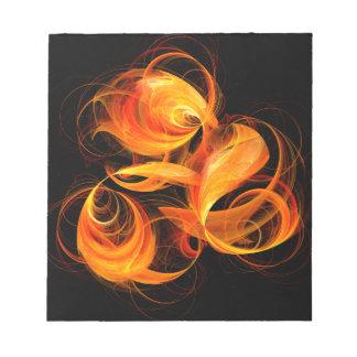 Libreta del arte abstracto de la bola de fuego blocs