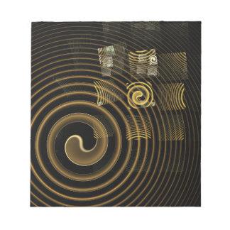 Libreta del arte abstracto de la hipnosis bloc