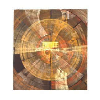 Libreta del arte abstracto de la integridad blocs de papel