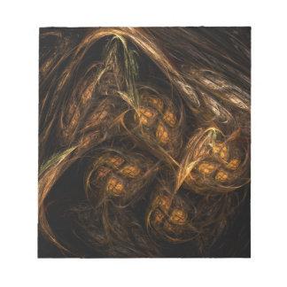 Libreta del arte abstracto de la madre tierra libretas para notas