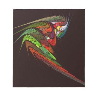 Libreta del arte abstracto del camaleón blocs