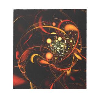 Libreta del arte abstracto del latido del corazón blocs de notas