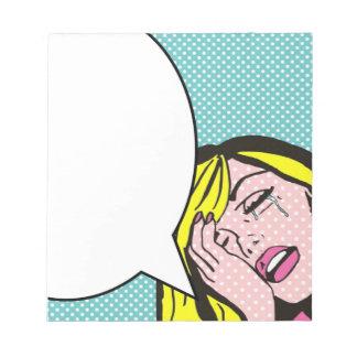 Libreta del arte pop de la burbuja del discurso de blocs de papel
