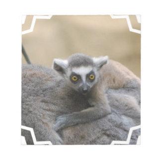 Libreta del bebé del Lemur Blocs De Notas