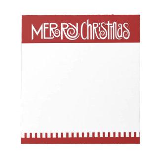 Libreta del blanco de las Felices Navidad Blocs