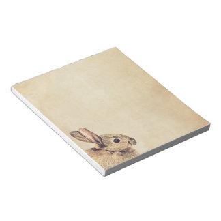 Libreta del bosquejo del conejo del vintage pequeñ bloc de papel