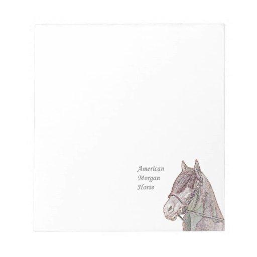 Libreta del caballo de Morgan Libretas Para Notas