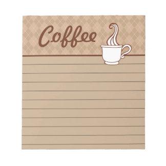 Libreta del café blocs de notas