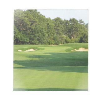 Libreta del campo de golf libretas para notas