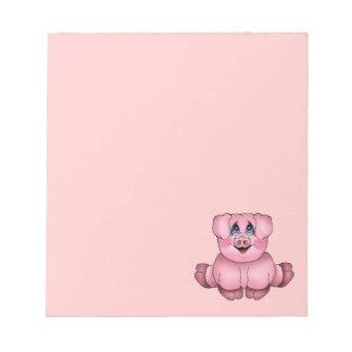 Libreta del cerdo bloc de papel