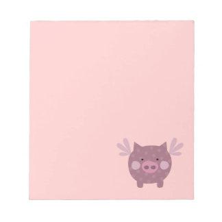 Libreta del cerdo del ángel libreta para notas