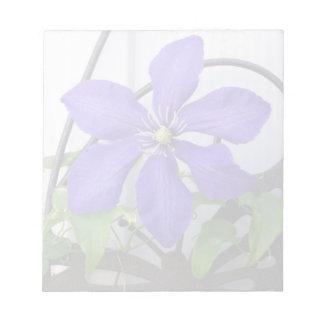 Libreta del Clematis púrpura Bloc De Notas