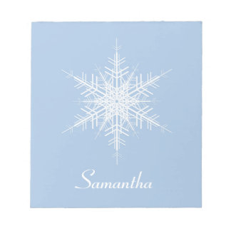 Libreta del copo de nieve de los azules claros Nev Bloc De Notas