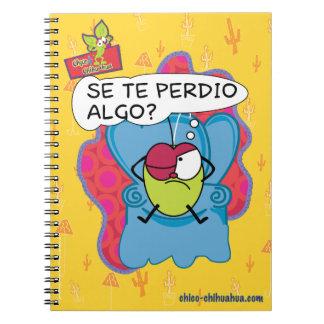 Libreta del cuaderno de la chihuahua de Chico