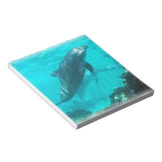 Libreta del delfín de la natación libreta para notas