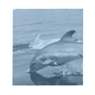 Libreta del delfín del salto blocs de notas