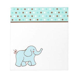 Libreta del elefante del bebé azul bloc de papel