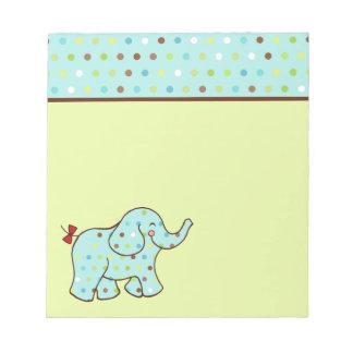 Libreta del elefante del bebé bloc de papel