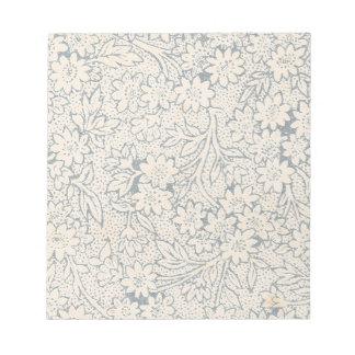 Libreta del estampado de flores del vintage bloc de notas
