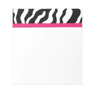 Libreta del estampado de zebra libreta para notas