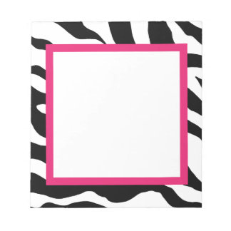 Libreta del estampado de zebra blocs de papel