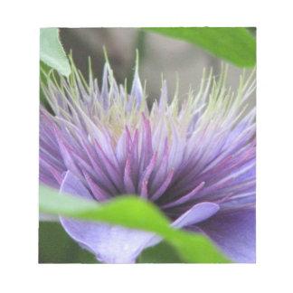 Libreta del flor de la flor del Clematis Blocs De Papel