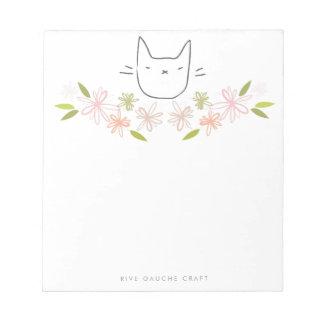 Libreta del gato del jardín del crisantemo bloc de notas