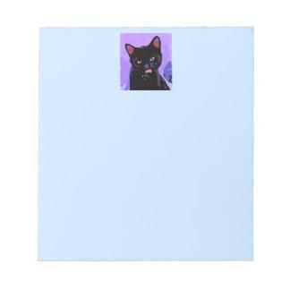 Libreta del gato negro blocs de papel