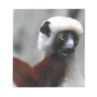 Libreta del Lemur de Sifaka Blocs De Papel