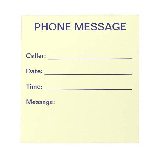 Libreta del mensaje de teléfono blocs