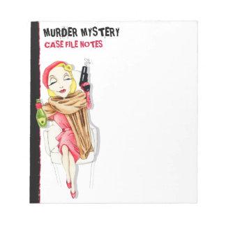 Libreta del misterioso asesinato de Femme Fatale Libreta Para Notas