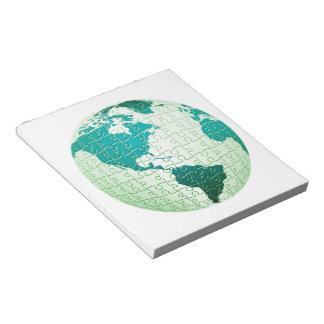 Libreta del mundo del rompecabezas libreta para notas