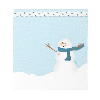 Libreta del muñeco de nieve blocs