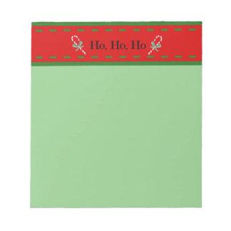 Libreta del navidad en colores festivos del día de libreta para notas