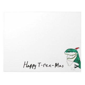 Libreta del navidad T-Rex-Mas Bloc De Papel