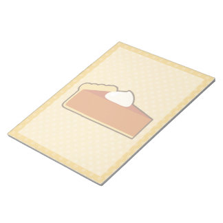 Libreta del pastel de calabaza blocs de notas