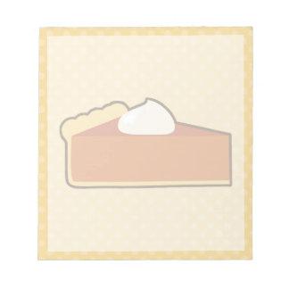 Libreta del pastel de calabaza blocs de papel