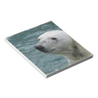 Libreta del perfil del oso polar bloc de papel