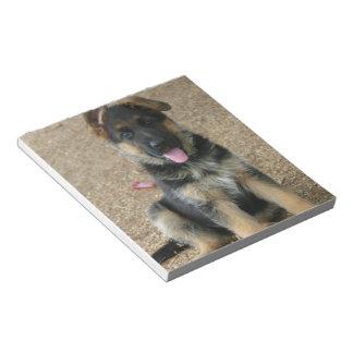 Libreta del perrito del pastor alemán libreta para notas