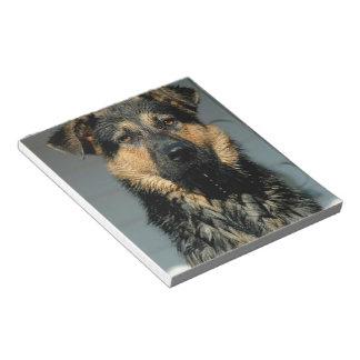Libreta del perro de pastor alemán bloc de notas