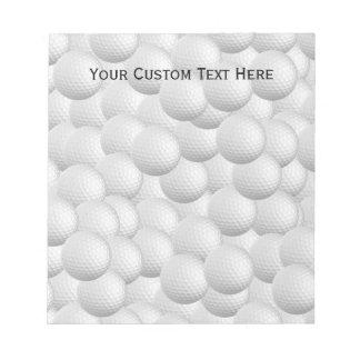 Libreta del personalizado de las pelotas de golf blocs de notas