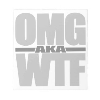 Libreta del personalizado de OMG aka WTF Bloc