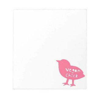 Libreta del polluelo del vegano blocs de notas