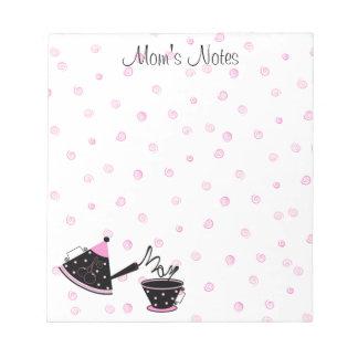 Libreta del pote del té de la mamá libretas para notas