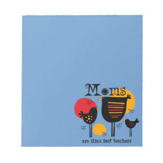 Libreta del profesor de la vida de la mamá la mejo blocs de notas