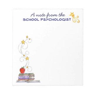 Libreta del psicólogo de la escuela blocs