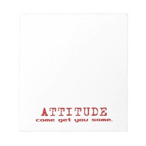 Libreta del rojo de la actitud libretas para notas
