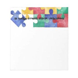 Libreta del rompecabezas de la acuarela de la blocs de notas