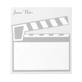 Libreta del tablero de Clapperboard de la pizarra Libreta Para Notas