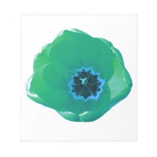 Libreta del tulipán verde y azul libreta para notas